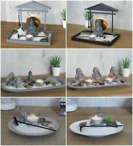 Buddha Zen Garden Tealight Holders Mediate Gift Relax Spiritual Christmas Gift