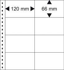 10 Lindner 030P Omnia Pages Blanc 2x 8x120x66 Pour Cartes Terminaux 031 032