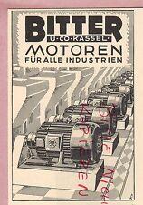 KASSEL, Werbung 1952, Bitter & Co. Motoren für alle Industrien
