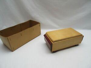 Vintage retro (Tallent??) wooden musical trinket jewellery box   Not working