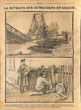 Austria Army Galicia Bridge of Dniester Soldiers Imperial Russia Army WWI 1914