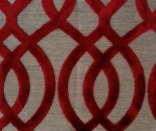 OSBORNE & LITTLE Du Barry Velvet Red Natural Remnant New
