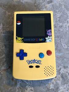 Nintendo Game Boy Color Pokemon Edition Handheld System New Housing - Yellow
