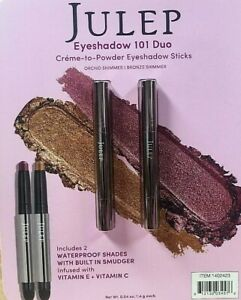 NEW JULEP 2 Pack Creme to Powder Eyeshadow 101 Duo -ORCHID SHIMMER + BRONZE