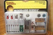 WOODLAND SCENICS O SCALE STREET ACCESSORIES