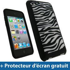 Noir Silicone Etui pour Apple iPod Touch 4G 4ème iTouch Housse Coque Case