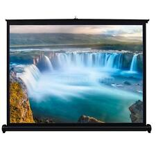 40 Inch Portable Fold Fabric Projection Screen Matte White for Home HD Projector