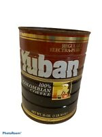 """VTG Yuban Coffee Can Tin 26 oz Empty Container Rusty Inside Out 6.5""""h x5.25"""" dia"""