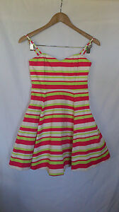 FOREVER NEW, SIZE 8, BONED, STRIPED, COCKTAIL/PARTY/WEDDING DRESS