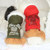 Winter Small Pet Dog Jumpsuit Clothes Thick Hoodie Coat Puppy Boy Apparel Jacket
