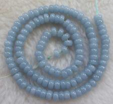3x6mm Natural Bue Angelite Rondelle Loose Beads 15.5inch