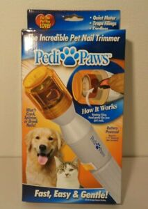 THE INCREDIBLE PET NAIL TRIMMER New PediPaws Fast Easy Gentle Cordless