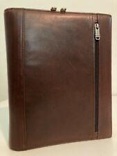 Tumi Zippered Binder Letter Pad Cover Portfolio Alpha Leather