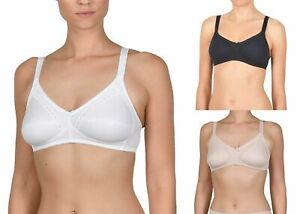 Naturana 86545 100% Cotton Soft Cup Wire Free Bra 34B-44 AA - E