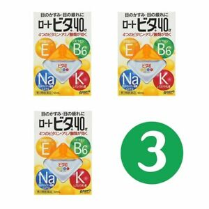 Rohto Vita Vitamin 40a for Dry Eye Drops 3Pack x 12ml Made in Japan