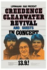 Creedence Clearwater Revival  at German Tour Concert Poster 1971  12x18