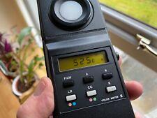 Colour Temperature Meter. MINOLTA COLOR METER II with Case.
