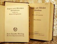 """Essigmann, Alois """"Sagen und Märchen Altindiens"""" in zwei Bänden-Juncker 1915/20"""