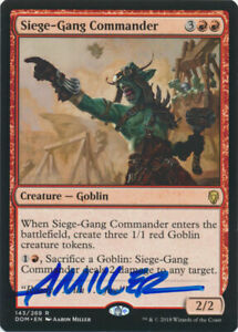 MTG Siege-Gang Commander Dominara Rare Signed by Artist Aaron Miller w/ COA