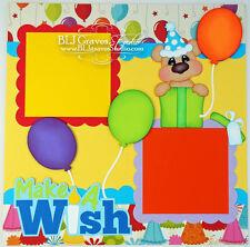 Elite4U Premade Scrapbook Page Paper Piecing Birthday Bear Boy Girl BLJgraves 61