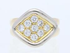 Valor: 1.750,- EUR vintage anillo 0,50 quilates brillante 750 amarillo oro blanco