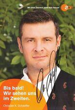 Christian K.Schaeffer   Die Rosenheim Cops  ZDF Autogrammkarte signiert  365308