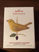 2019 Hallmark Keepsake Limited Edition Lady Summer Tanager Beauty Birds Ornament