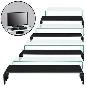 Glasaufsatz Monitorerhöhung Monitoraufsatz Fernseher Erhöhung Glastisch Podest