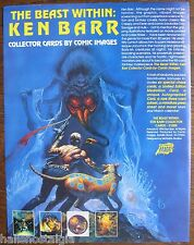 The Beast Within: Ken Barr Collector Cards SELL SHEET (no cards) Comic Images