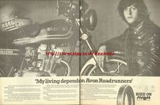 Avon Roadrunners Tyres Motorcycle 1980 Magazine Advert #247