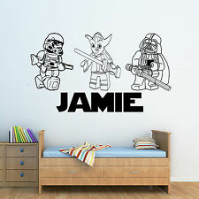 BIG Lego Star Wars Figures Personalised Boys/Girls Childrens Wall Sticker Decal