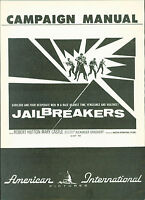 1960 The Jailbreakers  Robert Hutton, Mary Castle, Michael O'Connell  Pressbook