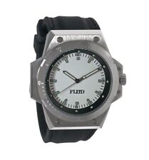 Flud F-22 Silver White Black Wrist Watch plus 3 silicone rubber Bands New in Box