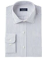 Club Room NEW Blue Mens Size 18 Stripe Pocket Performance Dress Shirt $55 #184
