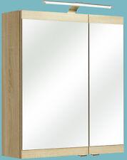 Pelipal Badmöbel > Spiegelschrank LUANDA > 60 cm Eiche Natur NB