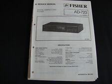 Original Service Manual Fisher AD-723