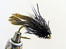 LUREFLASH FLIES BLACK MINI MUDDLER SZ14 FREE POST (LF83)