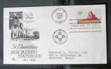 FDC Statehood Alaska-Arizona-California-Hawaii-New Mexico-Machine Addressed
