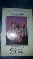 "Uncut 1986 My Sister & I Patterns Sr16 Doll Making Sewing 16"" Rabbits & Clothing"