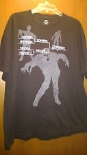 MEN'S BLACK ZOMBIE NINJA VAMPIRE PIRATE  PLAYOFF HALLOWEEN T SHIRT XXL EUC