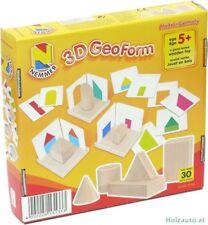 Geo Form 3D Lernspiel Geometrische Körper & Formen Spielzeug Holz Nemmer