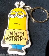 MINIONS ! im with stupid Soft Keychain Key chain collectible DESPICABLE ME