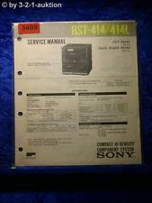 Sony Service Manual HST 414 / 414L Component System  (#3409)