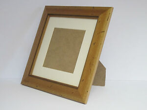 Antique Pine Real Wooden 8x8 Square Picture Photo Frame  Mount 5x5 Free Standing