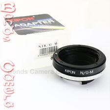 Kipon Nikon F mount G AF-S lens to Leica M Adapter M8 M9 M-E M 240 Ricoh GXR A12