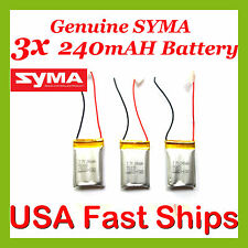 3x ENHANCED 240mAH Genuine SYMA Battery S107G-19 S107-19 Original Authorized