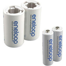 SANYO Eneloop 2 AA Batteries with 2 C-Size Spacers
