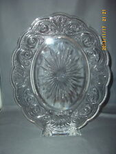 """Mikasa Crystal Glass Oval Picture Frame Scroll Pattern Picture Frame 5"""" x 7"""""""