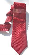 JOHN ASHFORD NWT $55 MEN TIE & BAR RED TONAL STRIPE SOLID FORMAL WEDDING A2061