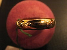 BAGUE ALLIANCE DEMI-JONC 5MM PLAQUE OR LAMINEE MADE IN FRANCE VINTAGE NEUF T 52